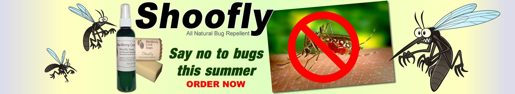 Shoofly All Natural Bug Repellant | Say No To Bugs This Summer ORDER NOW