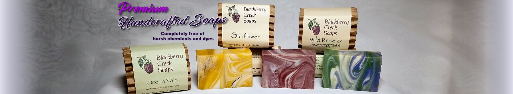 Premium Handcrafted Soaps - Completely free of harsh chemicals and dyes